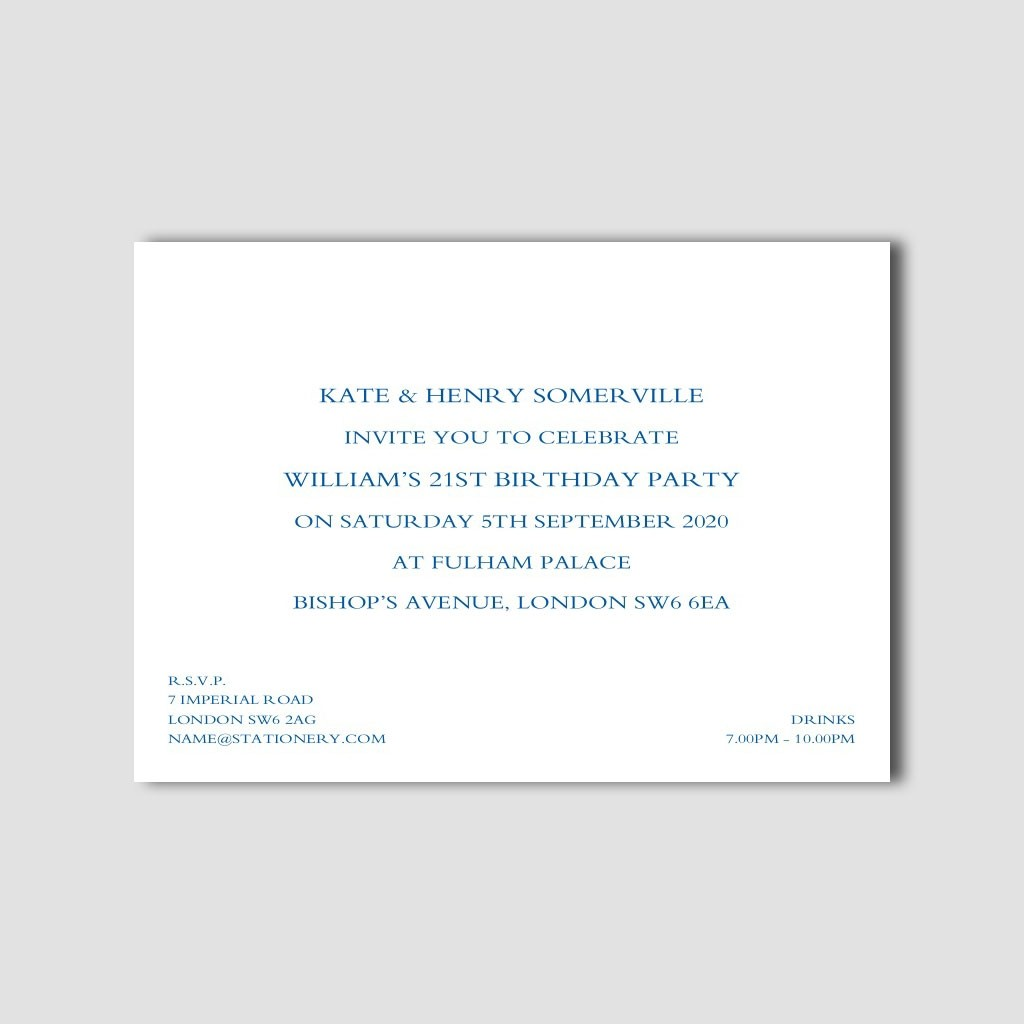 "7"" x 5"" Formal Invitations"