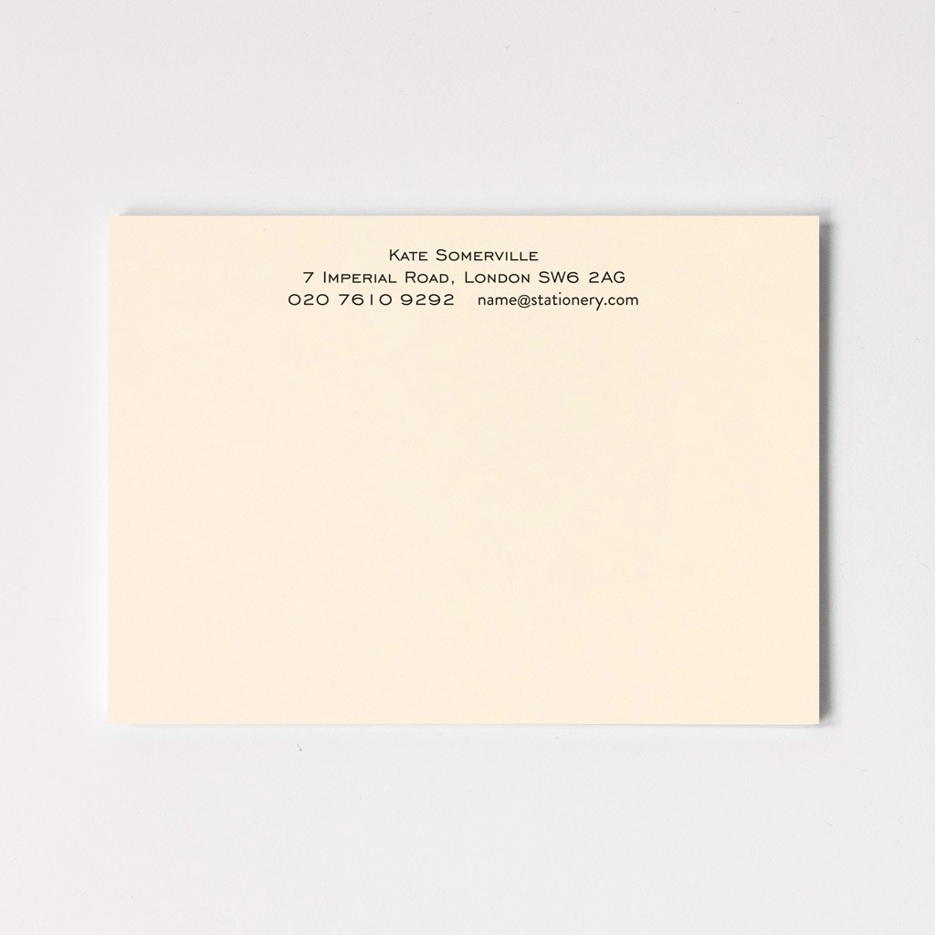 A6 Classic Correspondence Cards