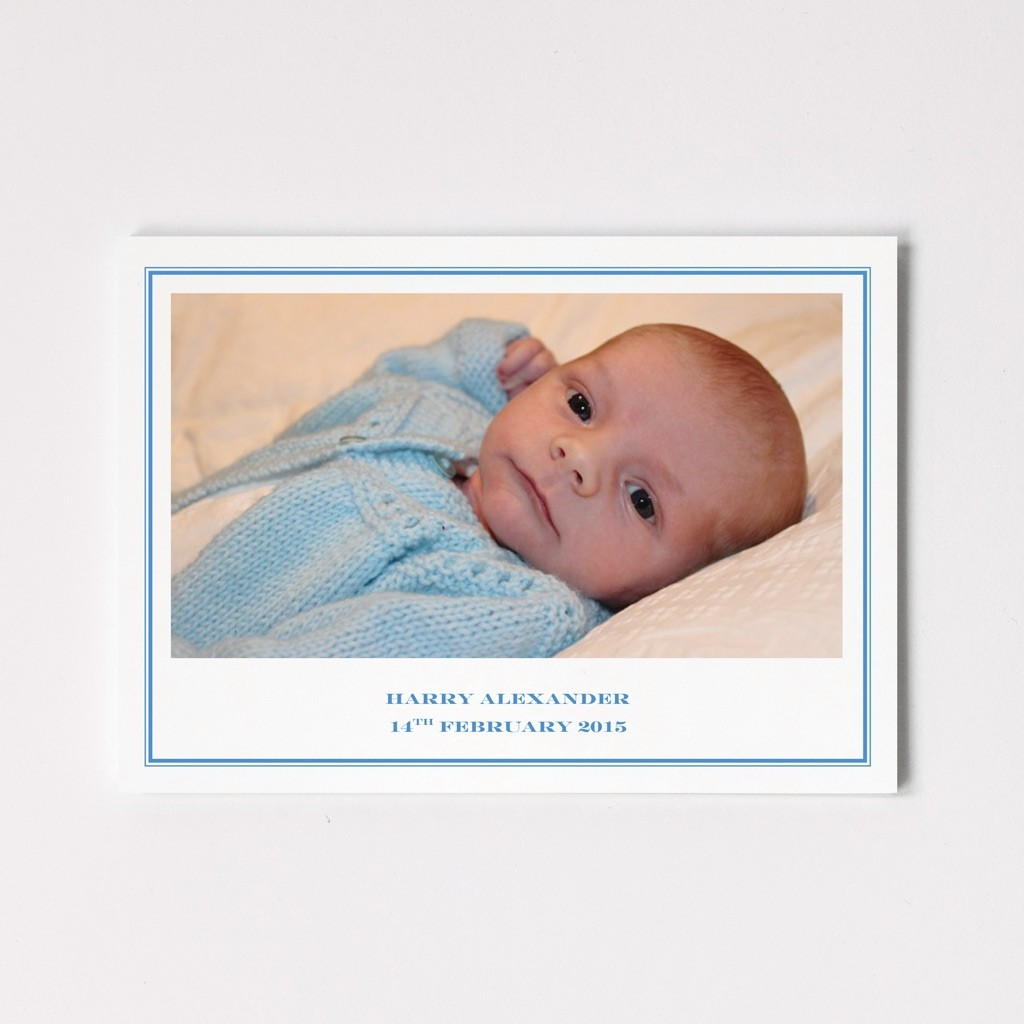 Photograph Folded Birth Announcement Card