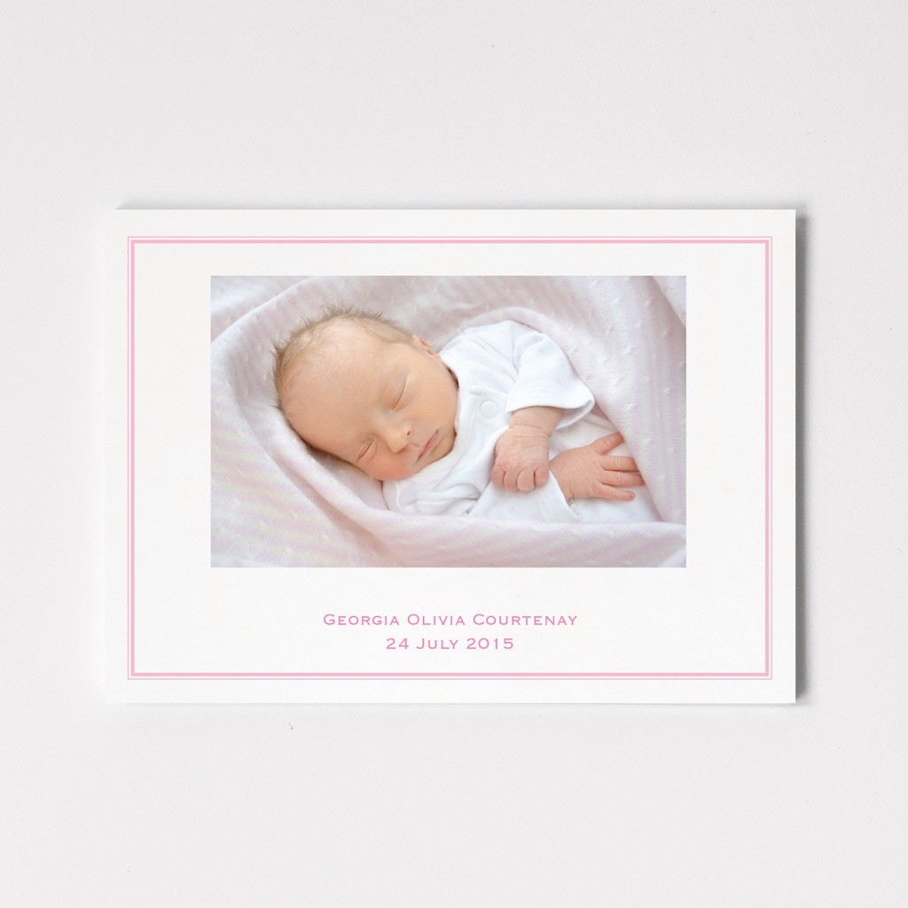 Postcard Birth Announcement