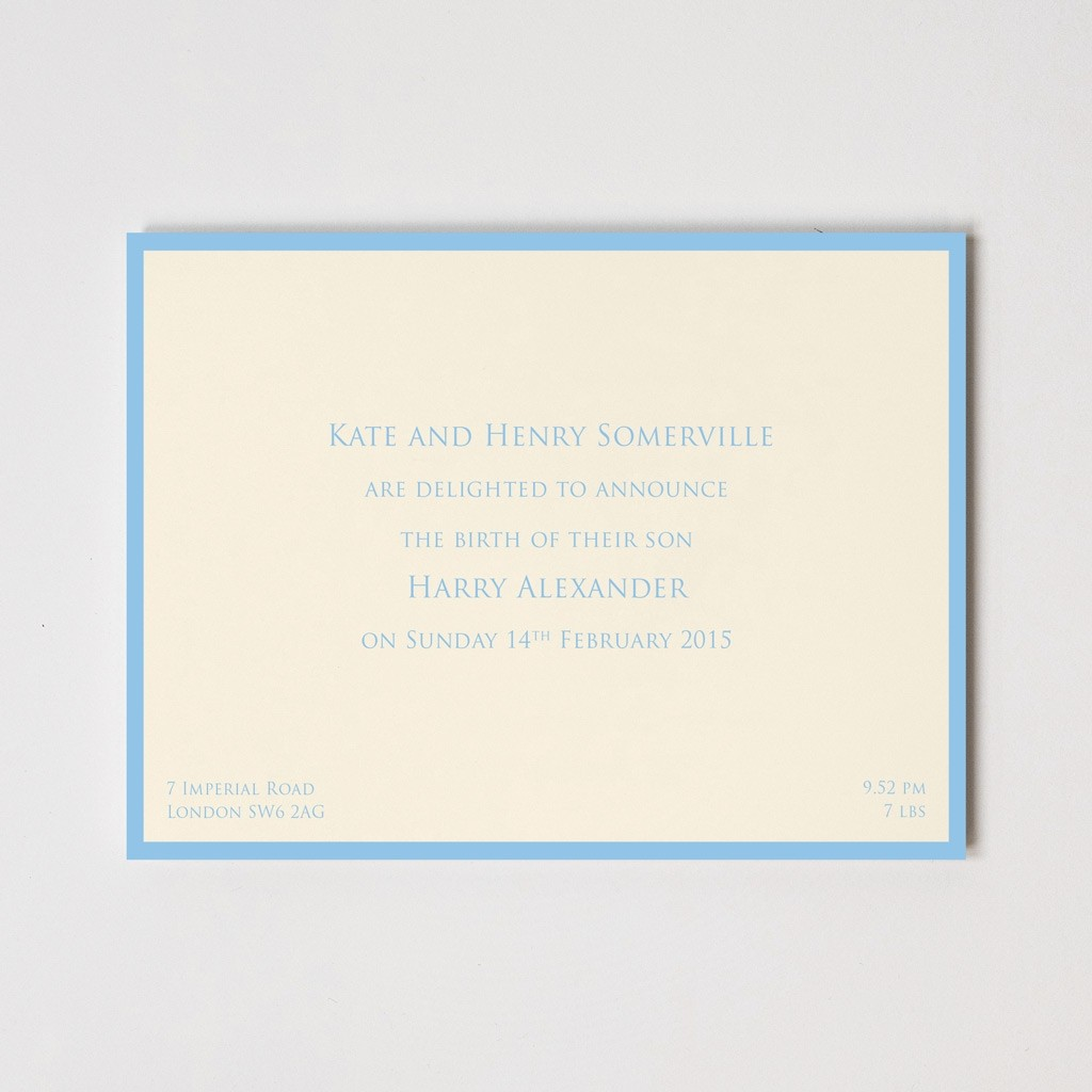Birth Announcement Border Cards
