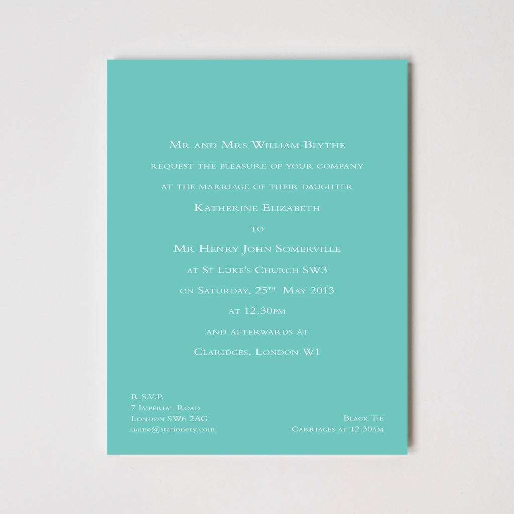 Bloomsbury Foil Invitation