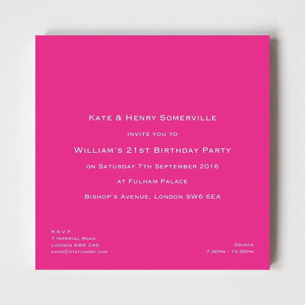 Bloomsbury Square Invitations