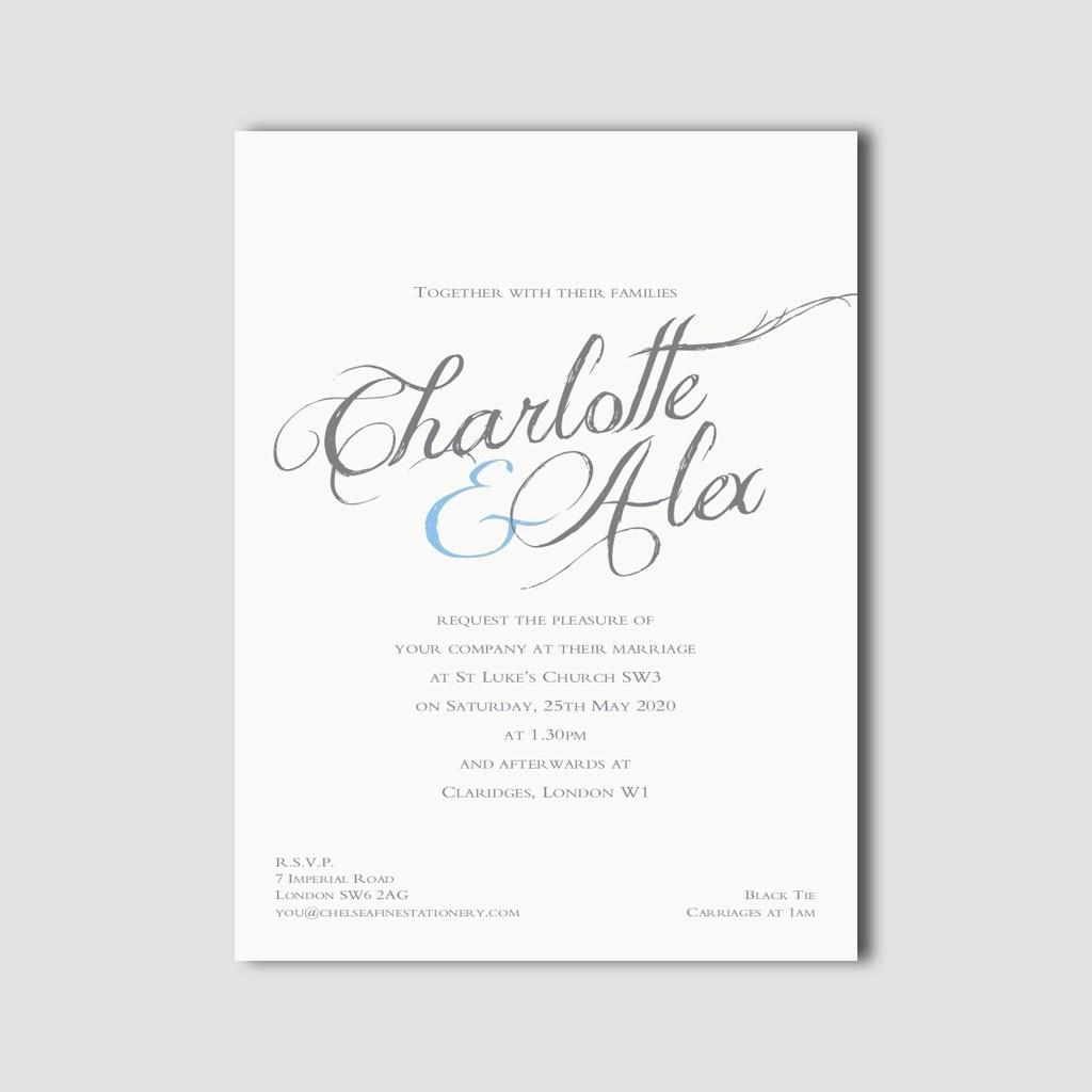 Charlotte Calligraphy Invitations