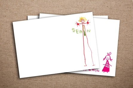 Children's Artwork Correspondence Cards