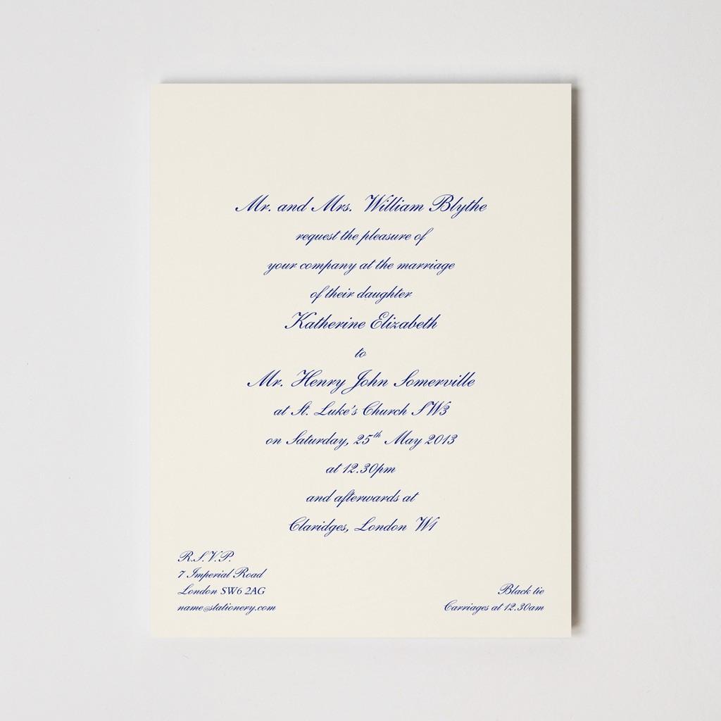 Chelsea Engraved Invitation 400GSM