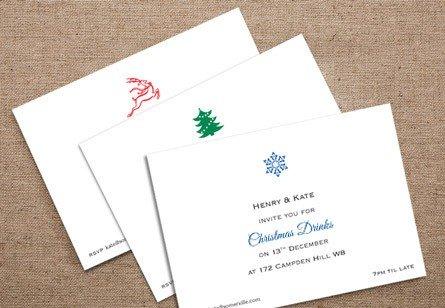 Christmas Motif A6 Invitations