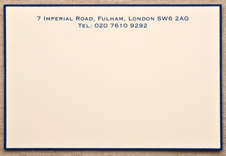 Crane & Co Hand-Painted Border Correspondence Cards