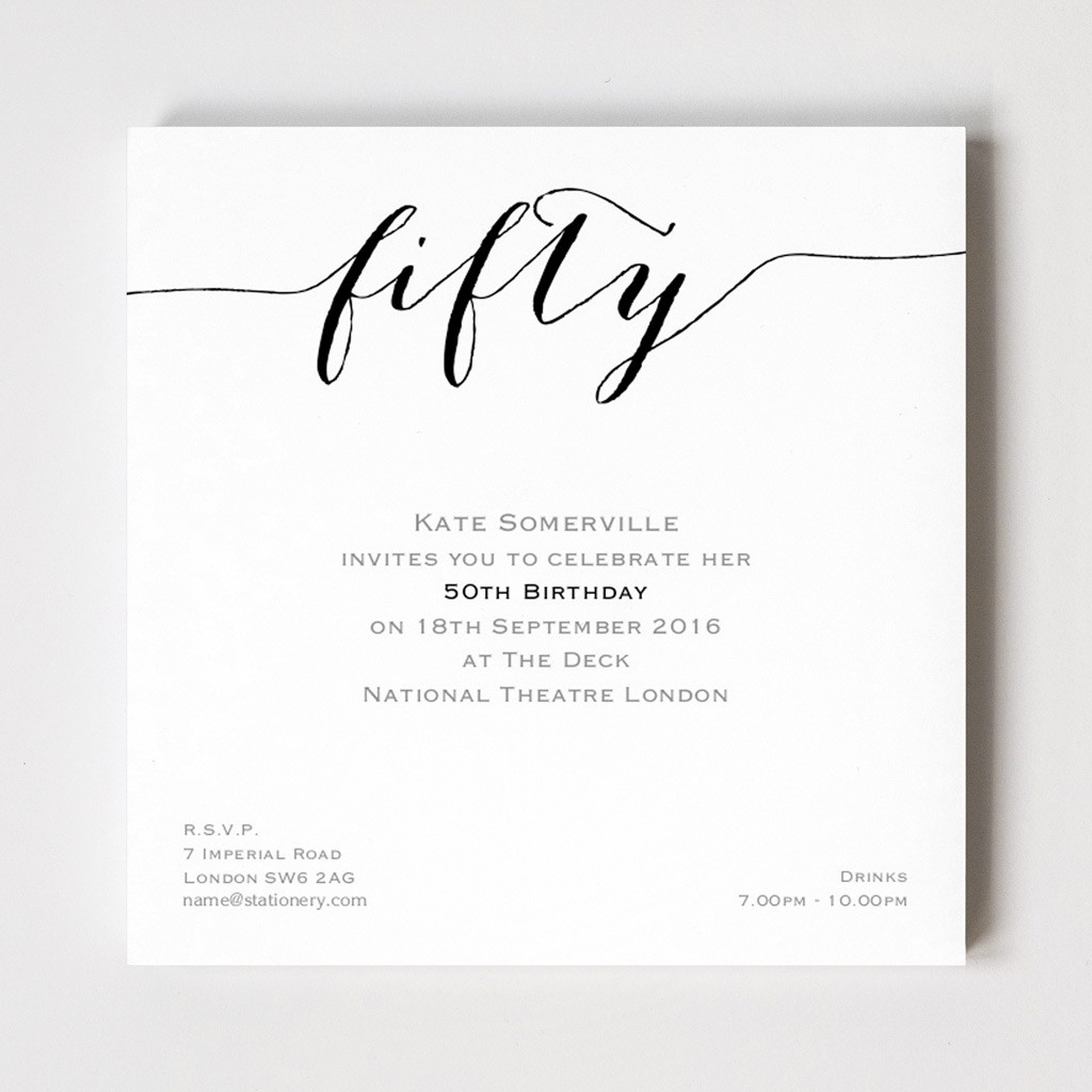 Flirty Fifty Invites