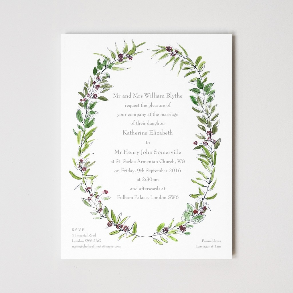 Floral Wreath Invitation