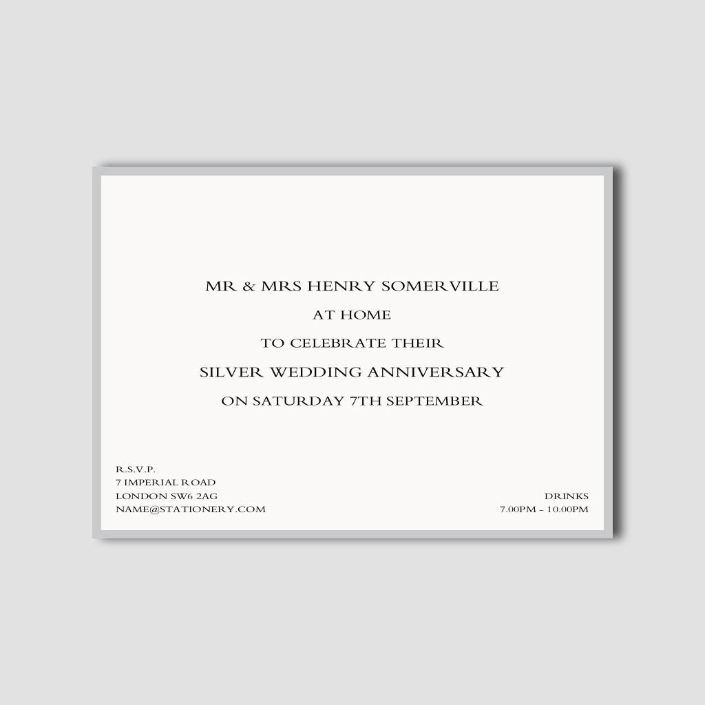 Gold & Silver Anniversary Invitations