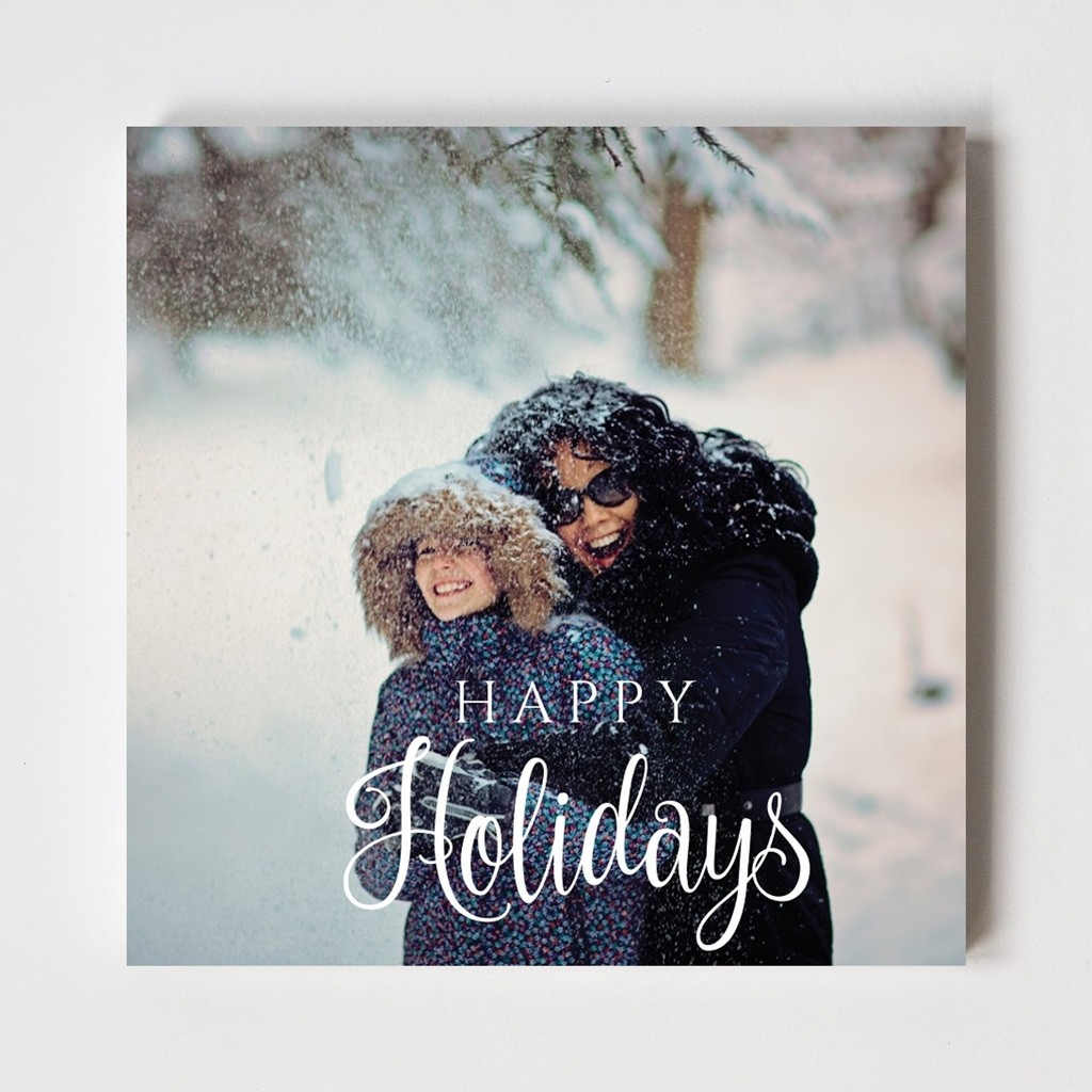 Calligraphy Series 'Happy Holidays' Card
