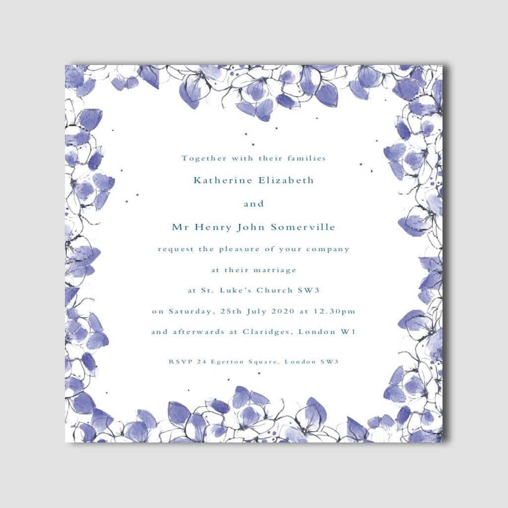 Hydrangea Invitations