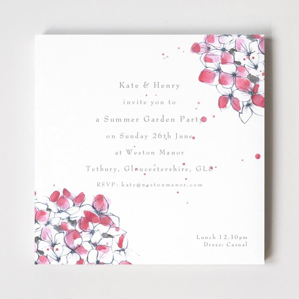 Hydrangea Tetbury Floral Invitations