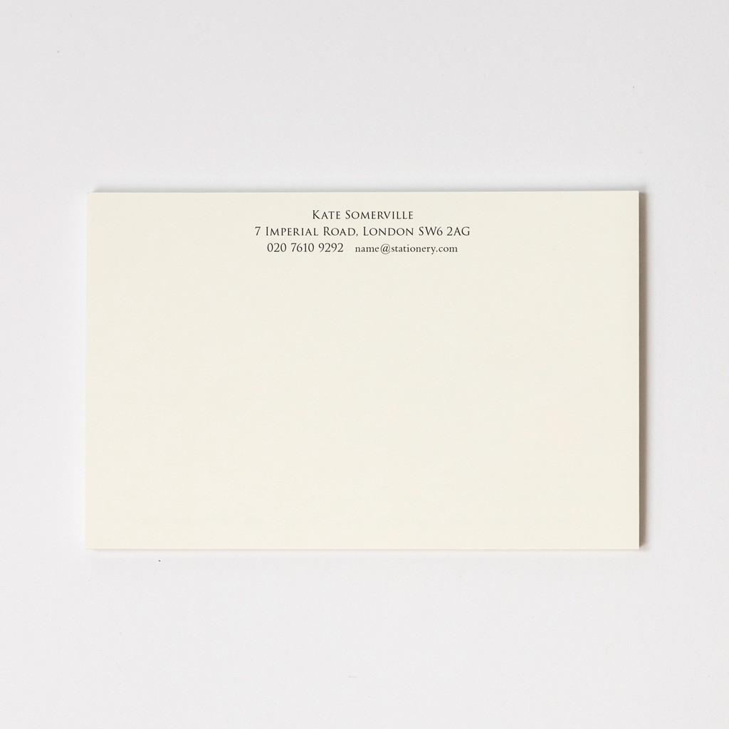 Large Premium Correspondence Cards
