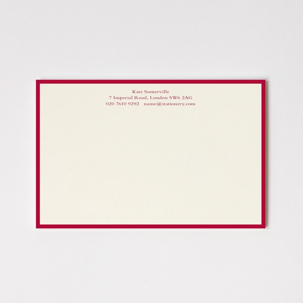 Large Classic Border Correspondence Cards