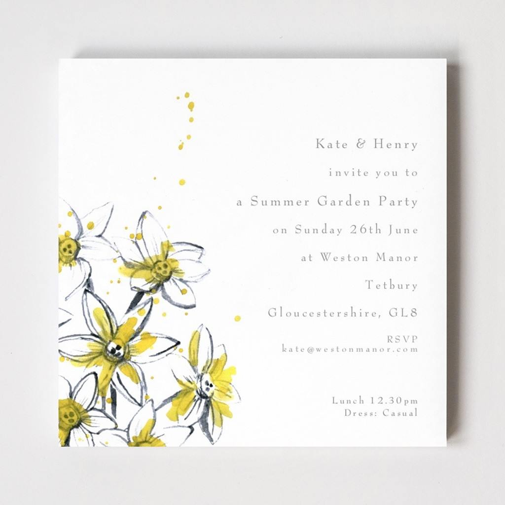 Tetbury Floral Invitations - Paper Lillies