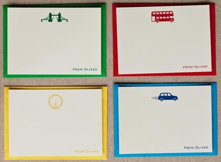 London Motif Correspondence Cards