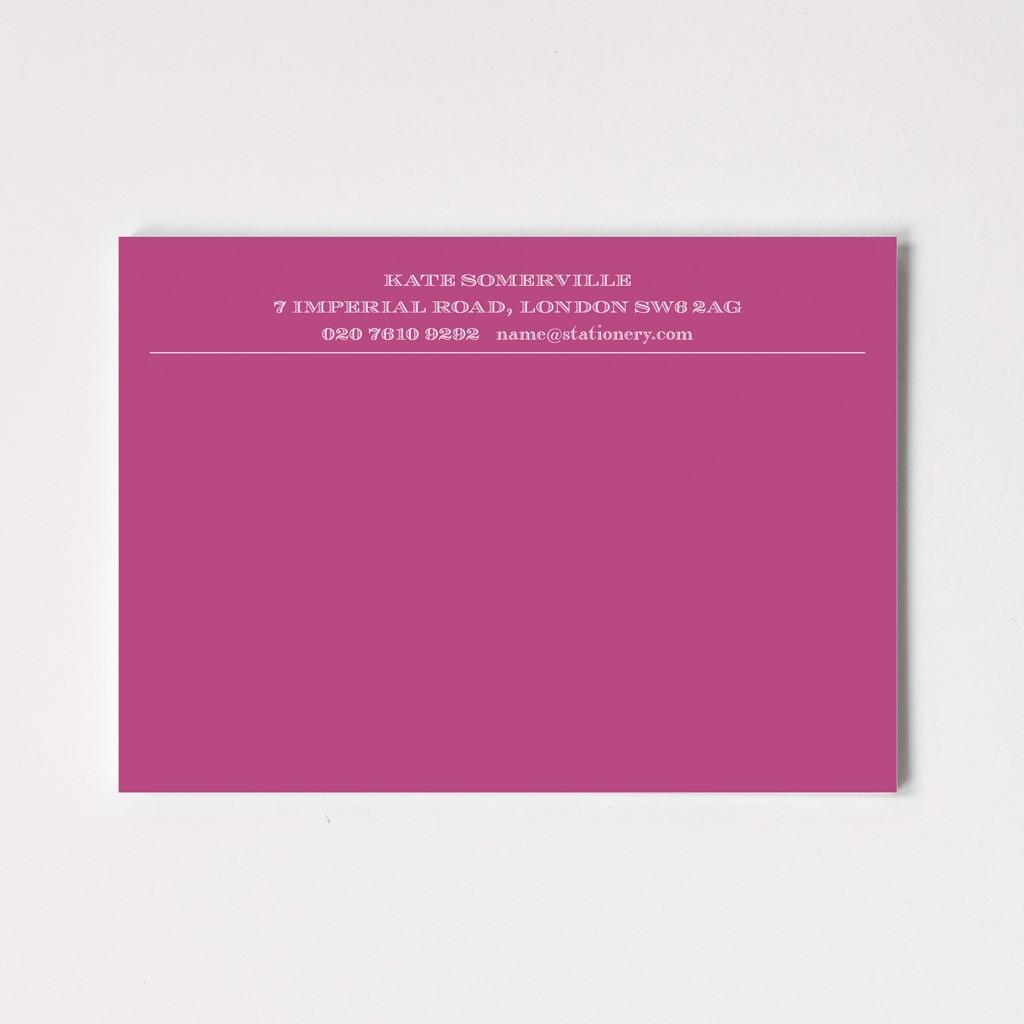 Luxury Engraved Correspondence Cards