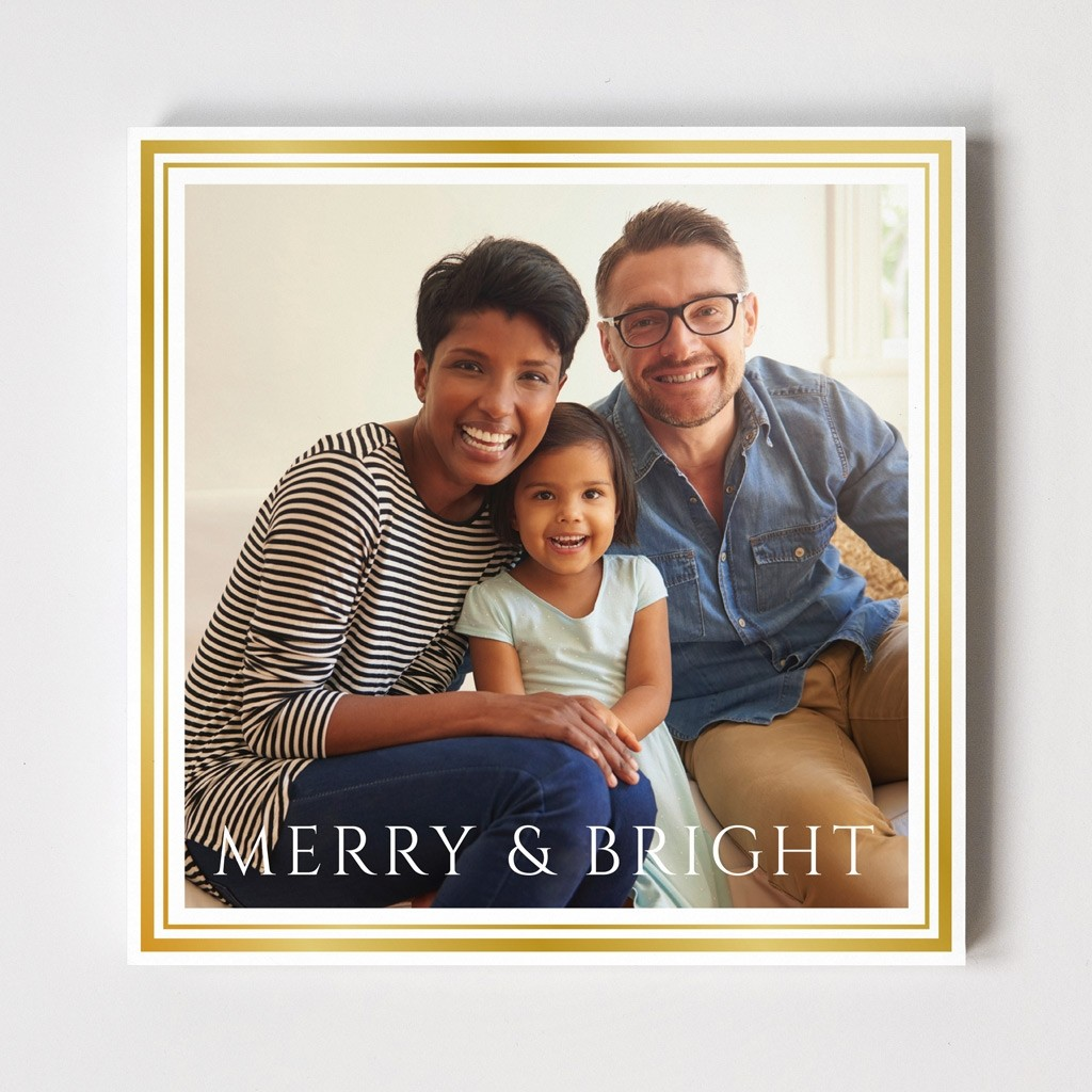 "Border Series ""Merry & Bright"" Card"