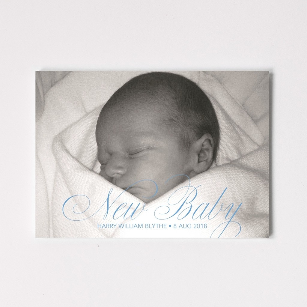 New Baby Photo Upload Postcard