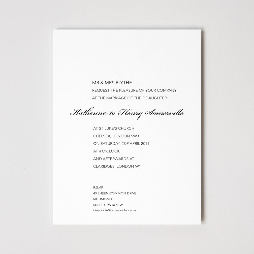 Primrose Hill Letterpressed Wedding Invitation