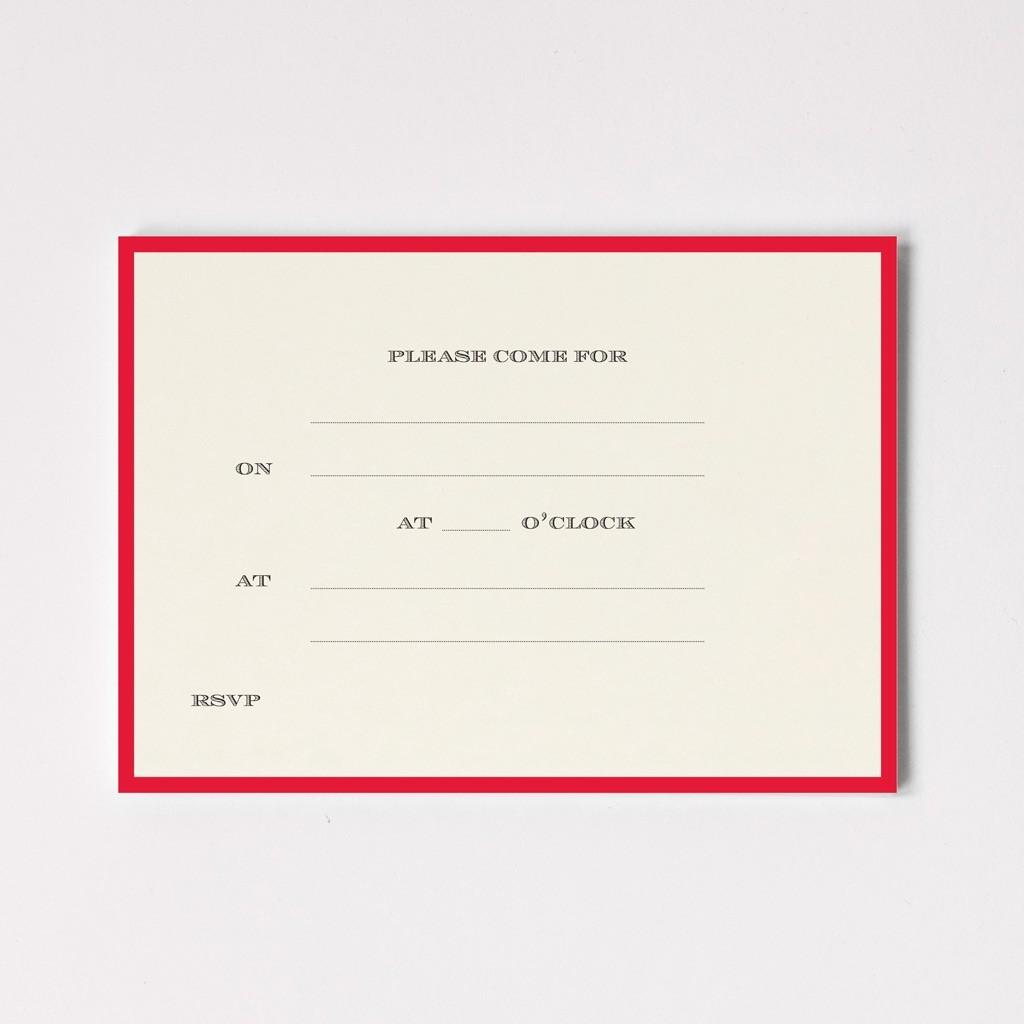 Red Border Invitations