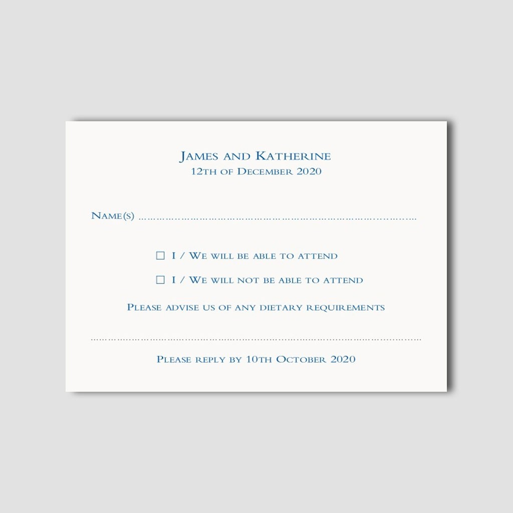 Reply Cards with Envelopes