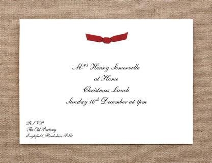 Ribboned at Home Invitation
