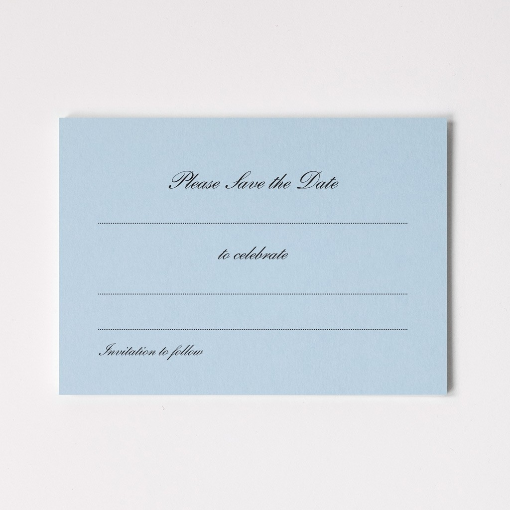 Thermographed Save the Date Cards - Ready To Write