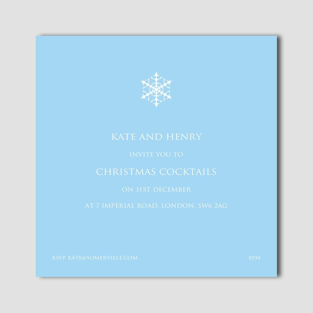 Snowflake Invitation