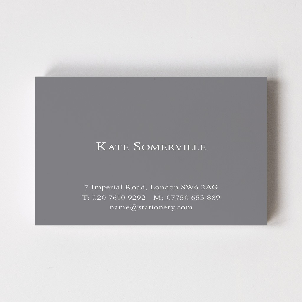 Solid Colour Calling Cards