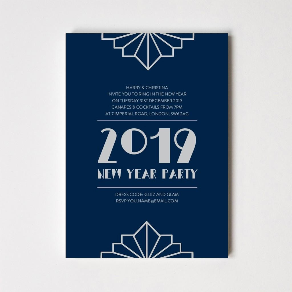Art Deco Steel Invitation