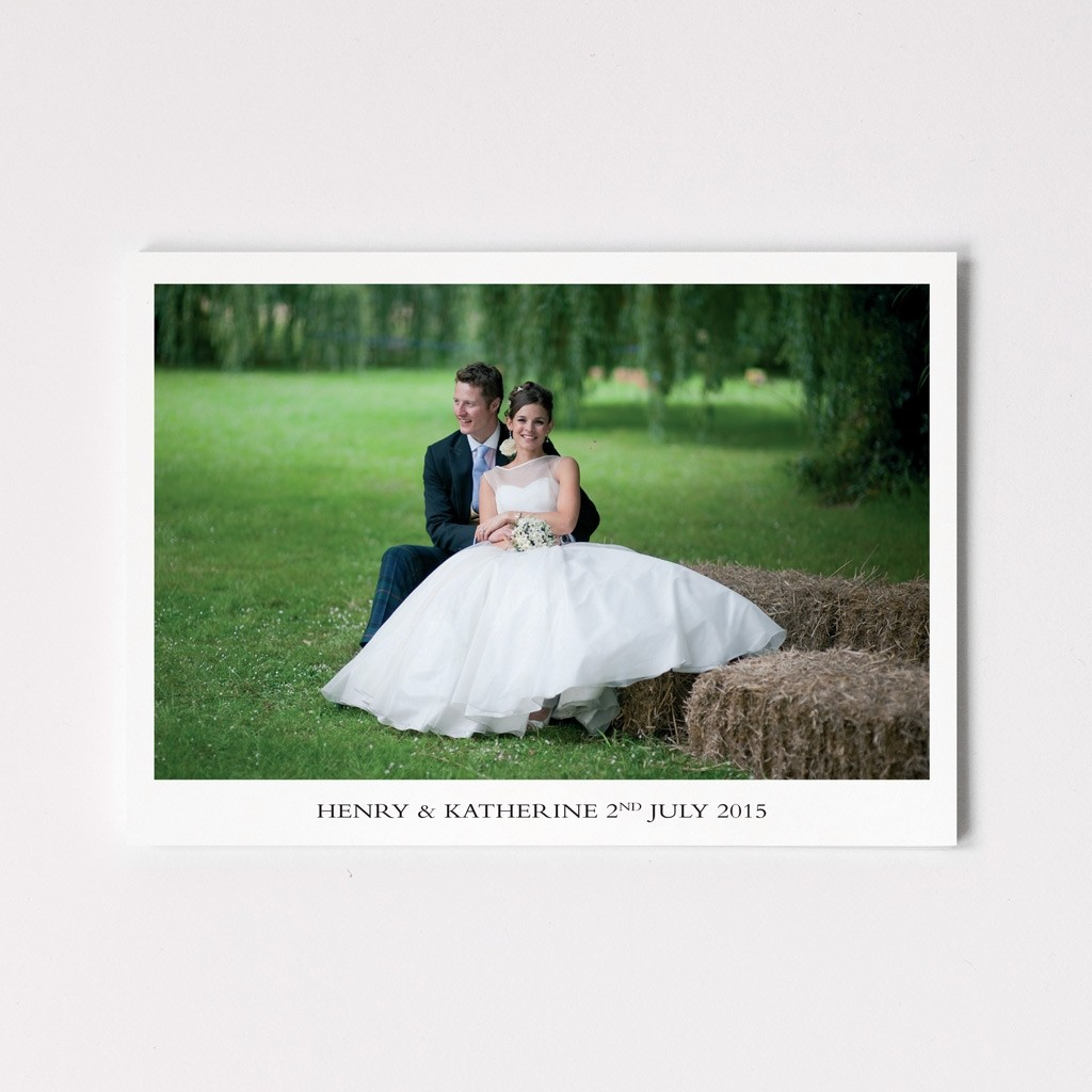 Folded Wedding Photo Cards - With Message Inside