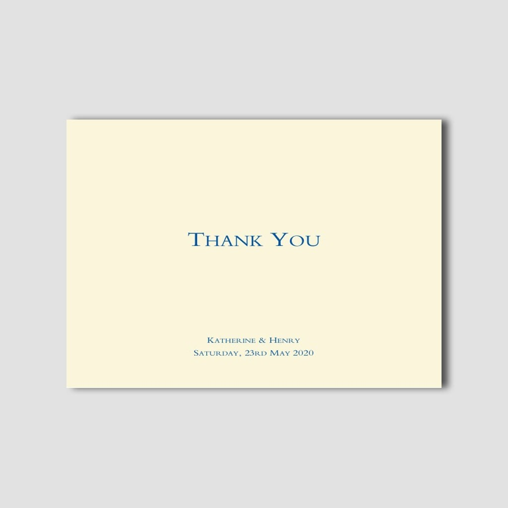 Wedding Thank You Folded Card