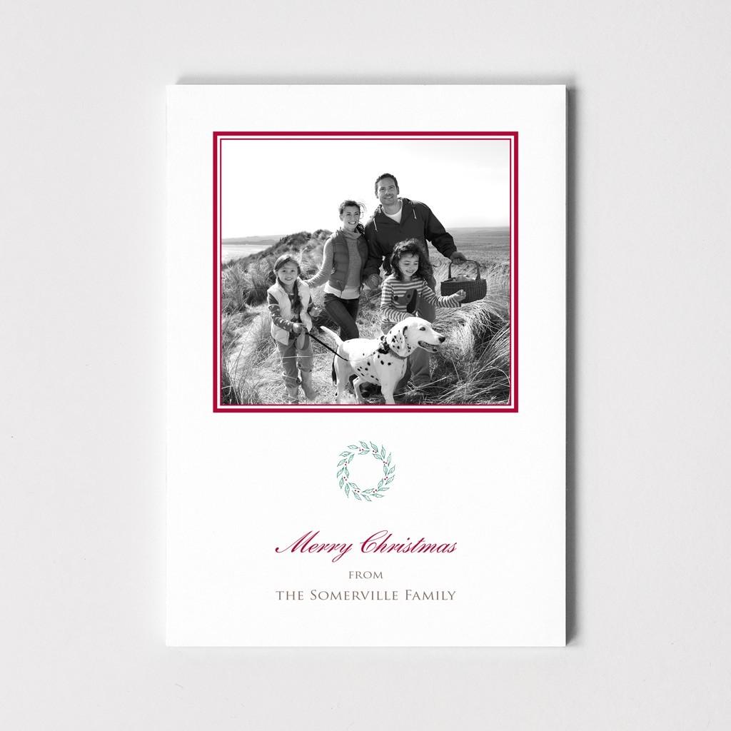 Wreath Photo Postcard