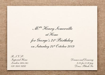 X  Formal Invitations