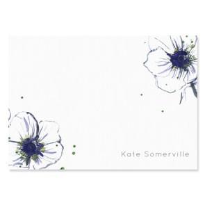 Tetbury Floral Correspondence Cards - Anemone