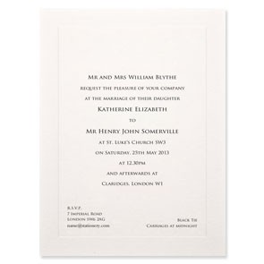 Belgravia Indented Invitation