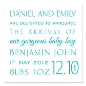 FONTastic Birth Announcement