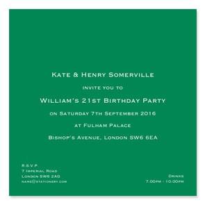 Bloomsbury Square Invitations