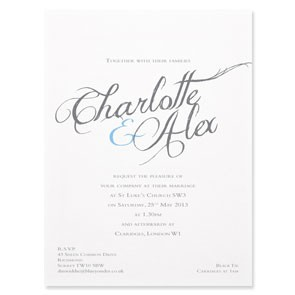 Charlotte Calligraphy Invitations