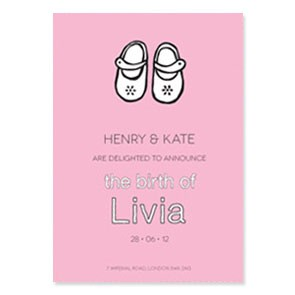 Colour Block Motif Birth Announcement