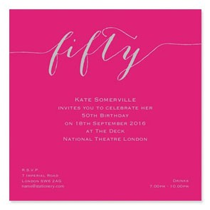 Flirty Silver Invitation