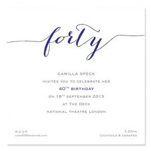 Flirty Forty Invites