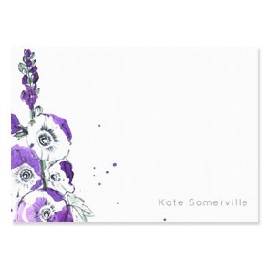 Tetbury Floral Correspondence Cards - Foxglove
