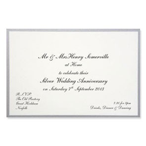 Gold & Silver Anniversary Invitations
