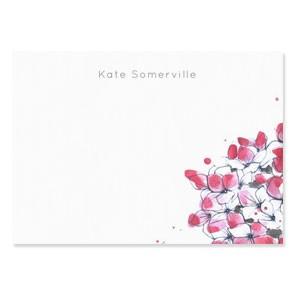 Tetbury Floral Correspondence Cards - Hydrangea