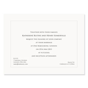 Katherine Indented 600gsm Invitation