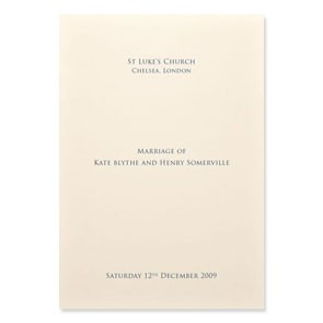 Order Of Service: A5 Size - 8 Pages